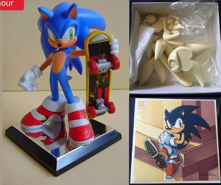 Resin Soap Shoe Sonic Limited Kit Figure