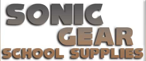 Sonic the Hedgehog School Supplies