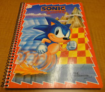 Classic Sonic spiral notebook