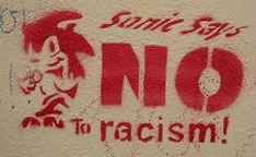 Sonic says No to racism spray sign
