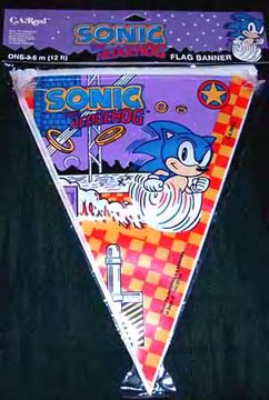 Sonic the Hedgehog Flag Banners