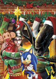 Bayonetta Monkey Ball Alien Sonic Christmas