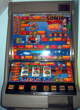 Sonic Fruit Machine Gambling Device
