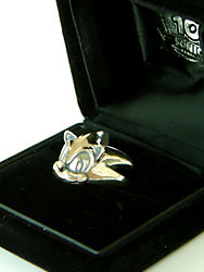 Silver Sonic ring in box