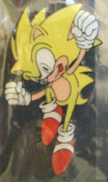 Super Sonic Enamel Pin with mistakes
